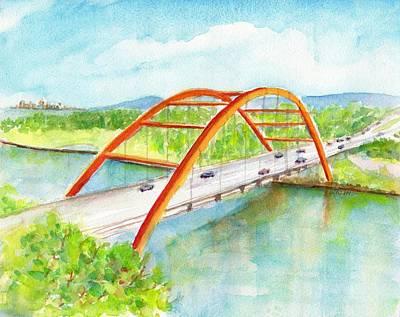 Painting - Austin 360 Bridge by Carlin Blahnik