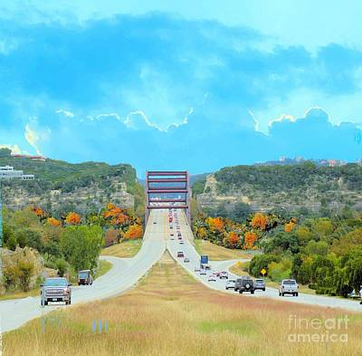 Photograph - Austin 360 Bridge In Autumn by Janette Boyd