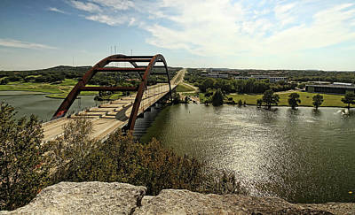 Photograph - Austin 360 Bridge by Judy Vincent