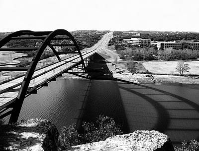 Photograph - Austin 360 Bridge Monochrome by Marilyn Hunt