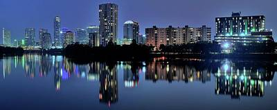 Photograph - Austin Blue Pano by Frozen in Time Fine Art Photography