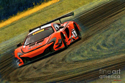 Photograph - Austin Cindric K-pax Mclaren 650s Gt3 by Blake Richards