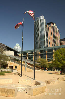Photograph - Austin City Hall by Frank Townsley