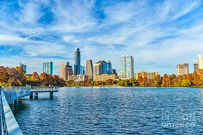 Urban Scene Photograph - Austin Cityscape View by Tod and Cynthia Grubbs