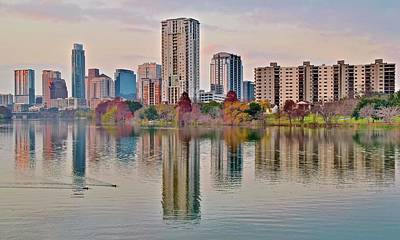 Photograph - Austin Colors At Dusk by Frozen in Time Fine Art Photography