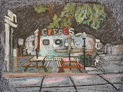 Austin Drawing - Austin Crepe Trailer  by Jane Durrell