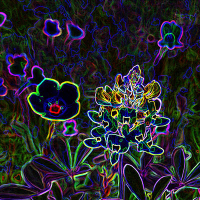 Digital Art - Austin Flowers After The Party by James Granberry