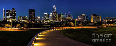 Austin Skyline Photograph - Austin From Long Center Pano by Tod and Cynthia Grubbs
