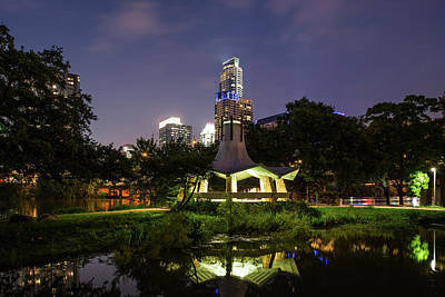 Austin Photograph - Gazebo After Dark by Tod and Cynthia Grubbs