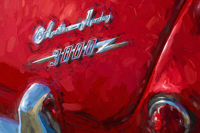 Digital Art - Austin Healey 3000 Impasto Study 3 by Scott Campbell