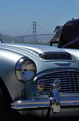 Photograph - Austin Healey And Golden Gate Bridge by Dean Ferreira