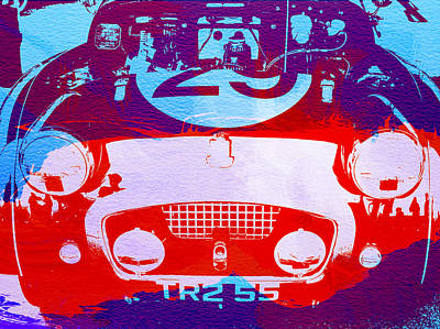 Austin Healey Bugeye Art Print by Naxart Studio
