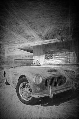 Digital Art - Austin Healey Chalk Study 1 by Scott Campbell