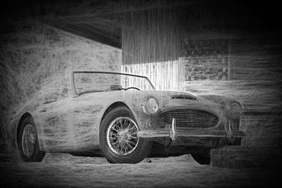 Digital Art - Austin Healey Chalk Study 2 by Scott Campbell
