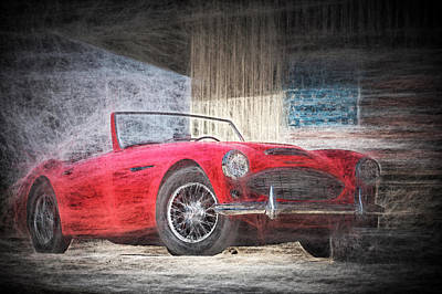 Digital Art - Austin Healey Chalk Study 4 by Scott Campbell