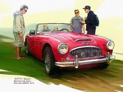 Painting - Austin Healey by RG McMahon