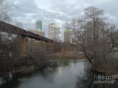 Photograph - Austin Hike And Bike Trail - Winter Train Trestle by Felipe Adan Lerma