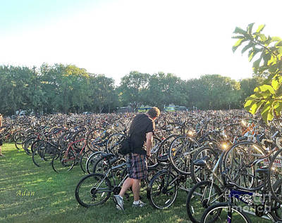 Photograph - Austin Hike And Bike Trail - Zilker Park Bicycles - Making Room by Felipe Adan Lerma