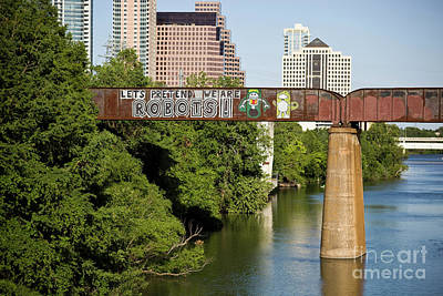 Inspirational Art Display Photograph - Austin Is Full Of Colorful And Inspiring Graffiti Art As This Le by Herronstock Prints