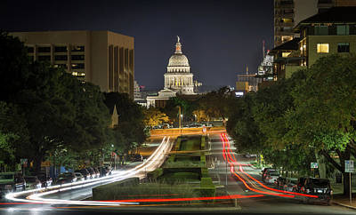 Photograph - Austin Light Trails by Tim Stanley
