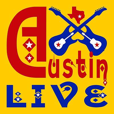 Austin Live Art Print
