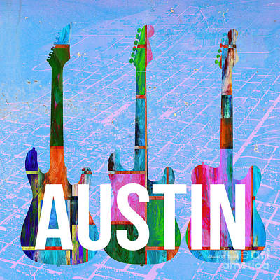 Painting - Austin Music Scene by Edward Fielding