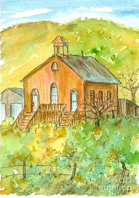 Painting - Austin Nevada Schoolhouse  by Cathie Richardson