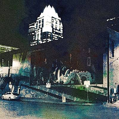 Digital Art - Austin Night by Cooky Goldblatt