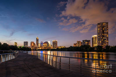 Austin Night Skyline Print by Tod and Cynthia Grubbs