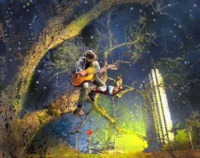 Art Miki Digital Art - Austin Nights 04 by Miki De Goodaboom