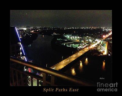 Austin Nights Split Paths East Art Print