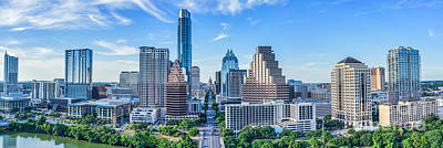 Best Sellers Photograph - Austin Panorama Skyline by Tod and Cynthia Grubbs