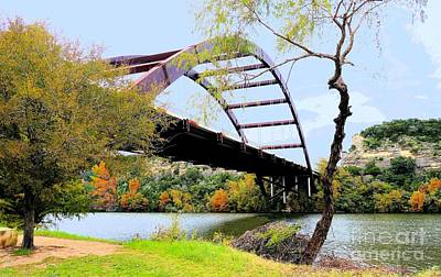 Photograph - Austin Pennybacker Bridge In Autumn by Janette Boyd