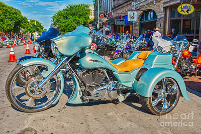 Motorcycle Photograph - Austin Rot Rally Bikes On Sixth Street by Tod and Cynthia Grubbs