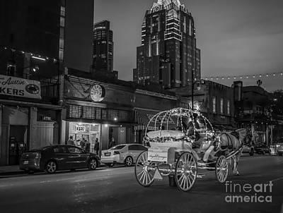 Downtown Digital Art - Austin Sixth Street At Dark by Tod and Cynthia Grubbs