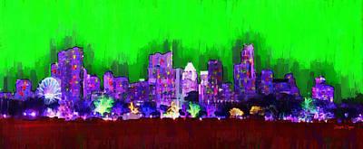 Colorado Digital Art - Austin Skyline 152 - Da by Leonardo Digenio