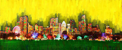 Austin Skyline Digital Art - Austin Skyline 158 - Da by Leonardo Digenio