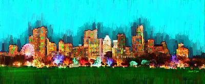 Austin Skyline Painting - Austin Skyline 164 - Pa by Leonardo Digenio