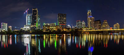Photograph - Austin Skyline At Night by Tim Stanley