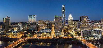 Austin Skyline Photograph - Austin Skyline At Night by Tod and Cynthia Grubbs