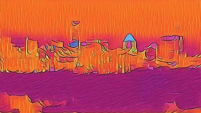 Austin Skyline Electric Art Print