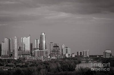 Photograph - Austin Skyline In Black And White by Sean Wray