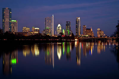 Austin Photograph - Austin Skyline by Mark Weaver