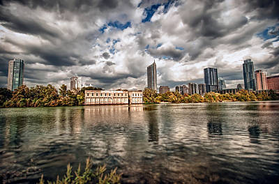 Austin Skyline On Lady Bird Lake Art Print by John Maffei