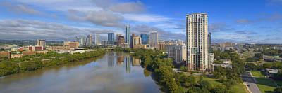 Jolly Old Saint Nick - Austin Skyline Pano Aerial 1 by Rob Greebon