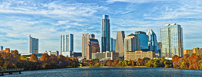 Water Photograph - Austin Skyline Panorama by Tod and Cynthia Grubbs