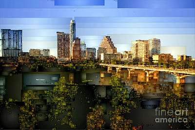 Digital Art - Austin Skyline by Rafael Salazar