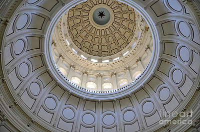 Photograph - Austin State Capitol Dome by Andrew Dinh