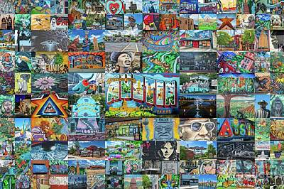 Austin Street Expressions Print by Tod and Cynthia Grubbs