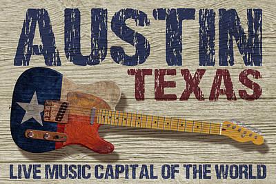 Digital Art - Austin Texas 2 by WB Johnston